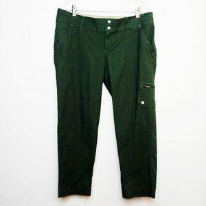 Columbia Capri Pants Omni Shade Olive Green Cargo